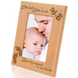 Little Feet, Little Hands Wooden Picture Frame