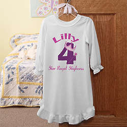 Personalized Birthday Princess Girl's Nightgown
