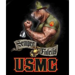 US Marine Corps Semper Fidelis Bulldog T-Shirt