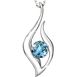 Granddaughter's Reach for the Stars Blue Topaz Necklace