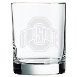 Ohio State Buckeyes Deep Etched Double Old-Fashion Glass