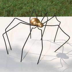 Black and Gold Metal Spider Sculpture