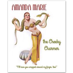 Gypsy Snake Charmer Pin-Up Personalized Print