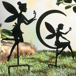 Metal Fairy Yard Stakes