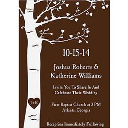 Personalized Wedding Tree Invitations