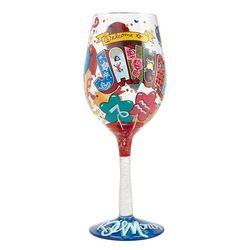 January Birthday Wine Glass