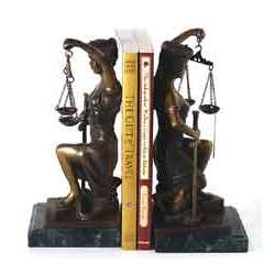 Bey Berk Lady Justice Bookends