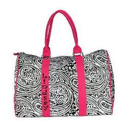 Monogrammed Paisley Duffel Bag