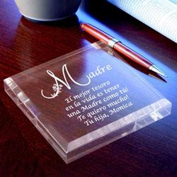 Personalized Spanish Motherly Treasure Keepsake & Paperweight