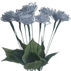 25th Anniversary Silver Ribbon Roses - 1 Dozen
