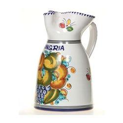 "Spanish Fruit Majolica 10"" Sangria Pitcher"