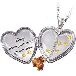 Always In My Heart Personalized Locket Necklace