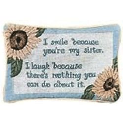 Sister Smile Word Pillow