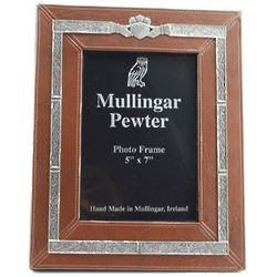 Leather and Pewter Claddagh Frame