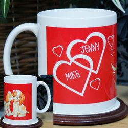 Personalized Puppy Love Coffee Mug