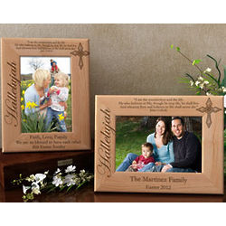 Personalized Hallelujah Wooden Picture Frame