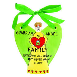 Guardian Angel of Family Ceramic Hanging