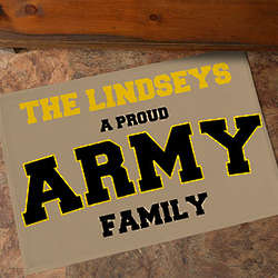 Personalized Military Home Doormat