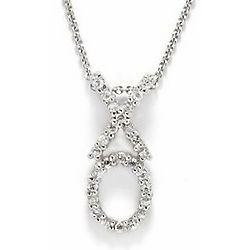 Sterling Silver Mini XO Pendant Necklace