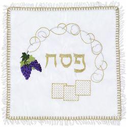 Square Embroidered Matzah Cover