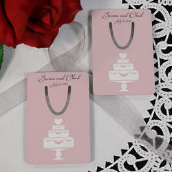 Wedding Cake Personalized Bookmark Wedding Favor