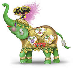 Slots of Luck Vegas-Style Elephant Figurine