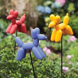 Balloon Dog Resin Garden Stakes