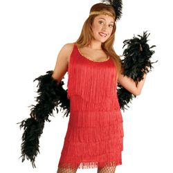 Fashion Flapper Red Plus Size Adult Costume
