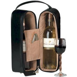 Double Wine Bottle Leather Presentation Case