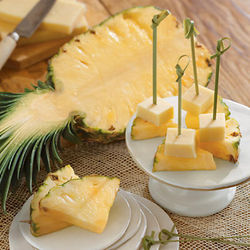 Pineapple and SeaHive Cheddar Cheese Pair