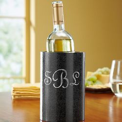 Personalized Black Marble Wine Chiller