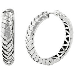 Balissima Sterling Silver Hoop Earrings