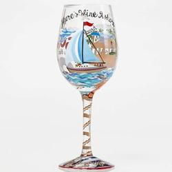 Anchor's Away Wine Glass