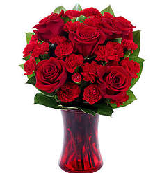 Red Rose and Carnation Large Bouquet