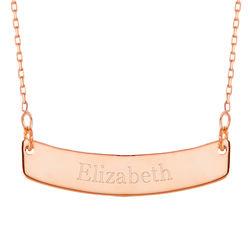 Rose Gold Curved Bar Necklace