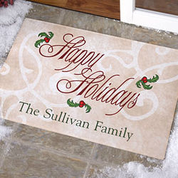 Tis The Season Personalized Door Mat
