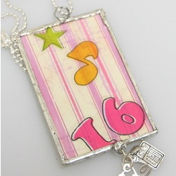 Sweet 16 Framed Necklace