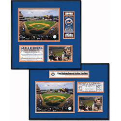 New York Mets - Shea Stadium - Ballpark Ticket Frame