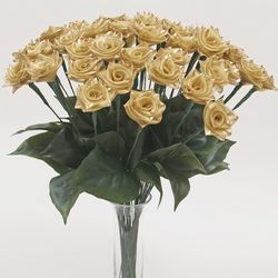 One Dozen 50th Anniversary Gold Ribbon Roses