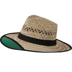Straw Farmer's Hat with See Through Visor
