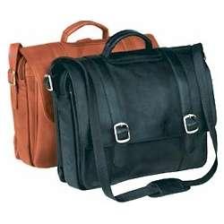Vaqueta Leather Deluxe Flapover Briefcase