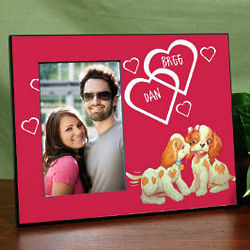 Personalized Puppy Love Printed Frame