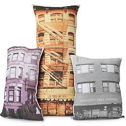 City Building Pillow