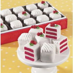 Red Velvet Petits Fours Gift of 24