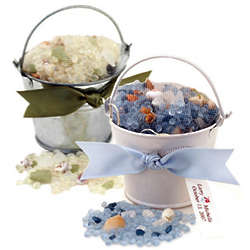 Mini Beach Tin Pail with Seashell Potpourri