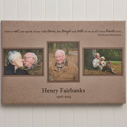 Wonderful Life Personalized Three Photo Memorial Collage