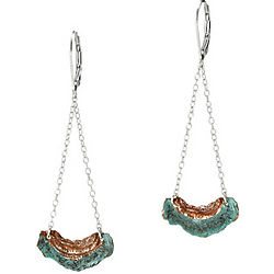 Lichen Shaped Copper Earrings