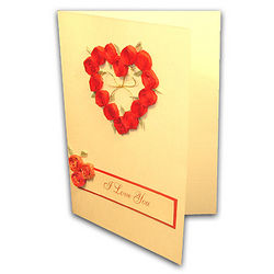 Red Rose Wreath I Love You Card