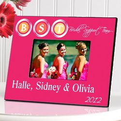 Personalized Pink Bridal Party Picture Frame