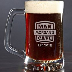 Man Cave Personalized Beer Mug